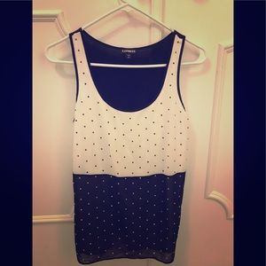 Black and white express tank top